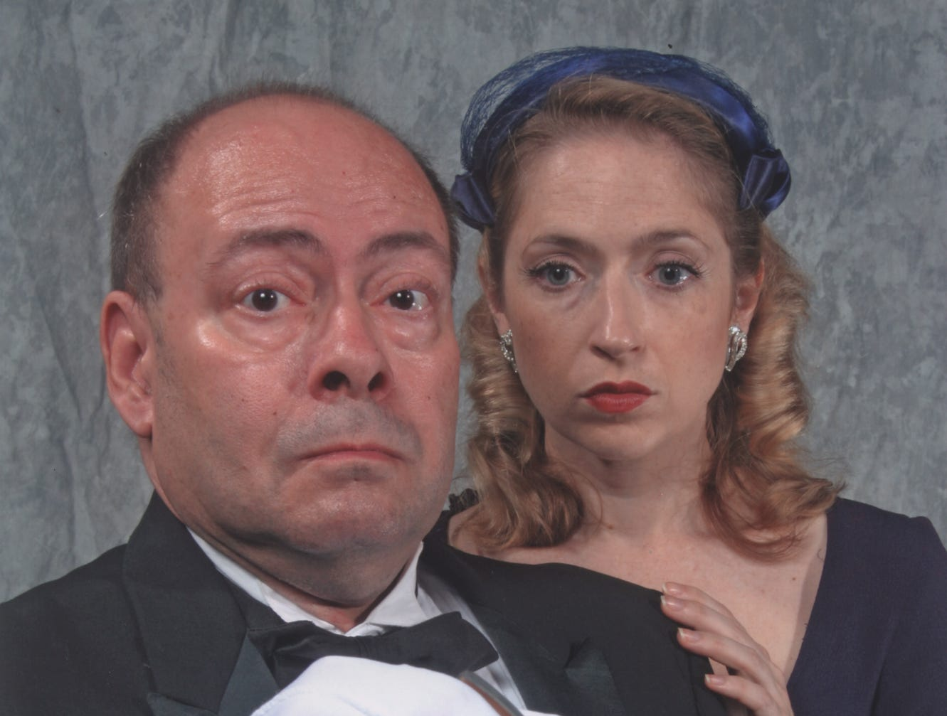 "Richard A. Mancuso and Corrine Grover  in the Cider Mill Playhouse production of ""Ten Little Indians"" in 2005."