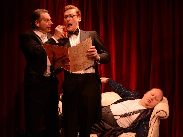 "Tom Kremer, Andrew Simek and Ted Nappi in ""Lend Me a Tenor"" at Cider Mill Playhouse in 2015."