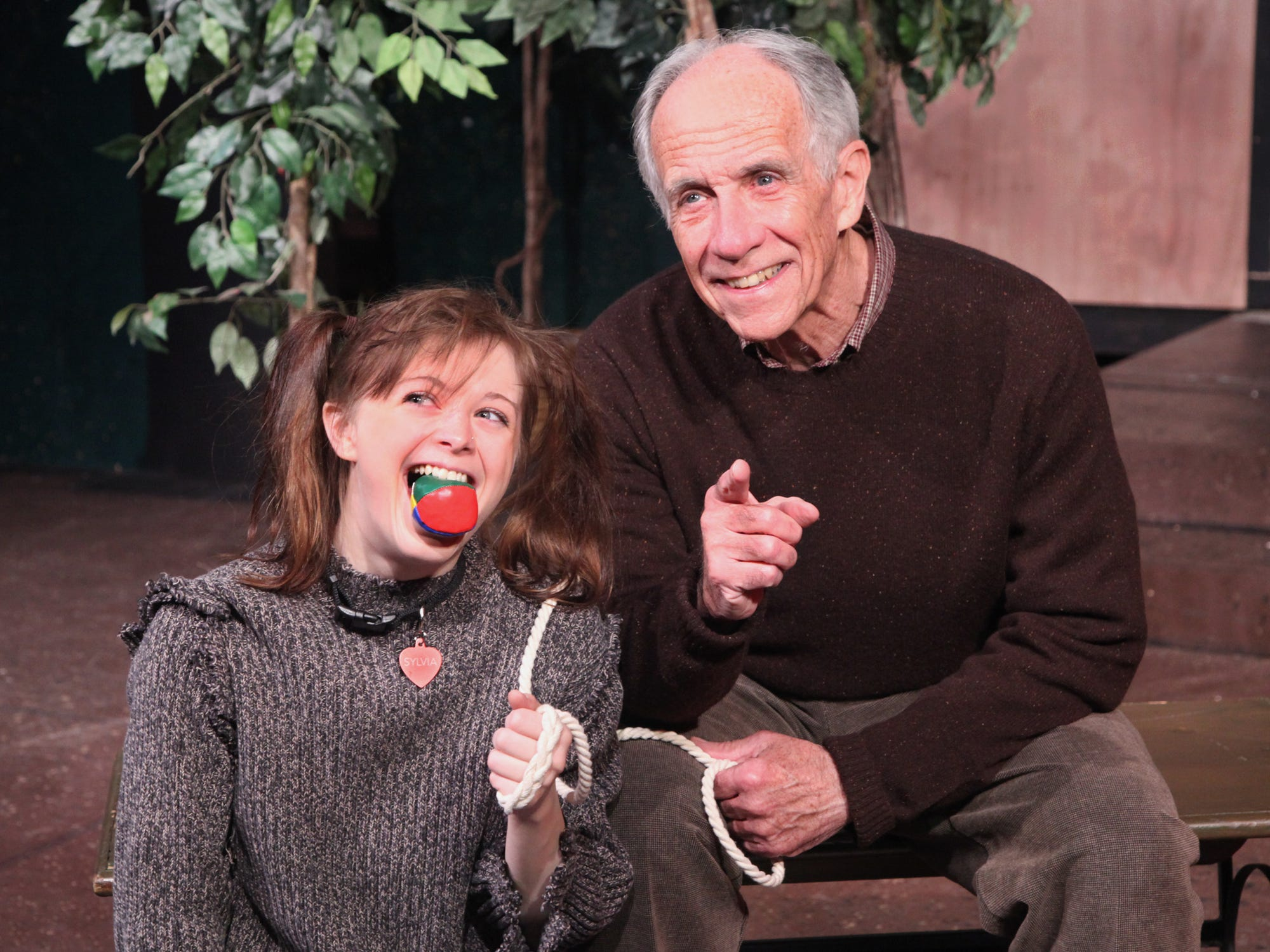 "Alice Wiesner and Bill Gorman in the Cider Mill Playhouse production of ""Sylvia"" in 2011."