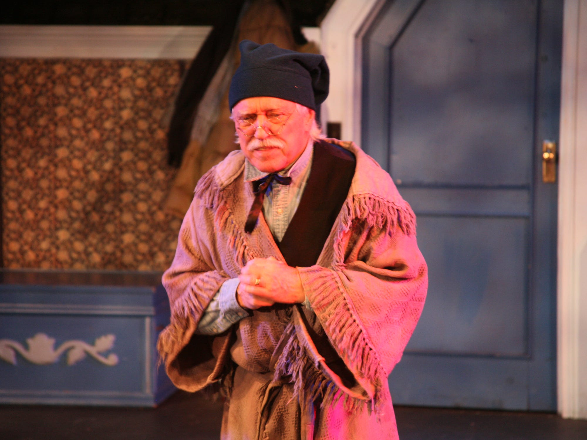 "Michael Coerver  as Scrooge in Cider Mill Playhouse's ""A Christmas Carol."""