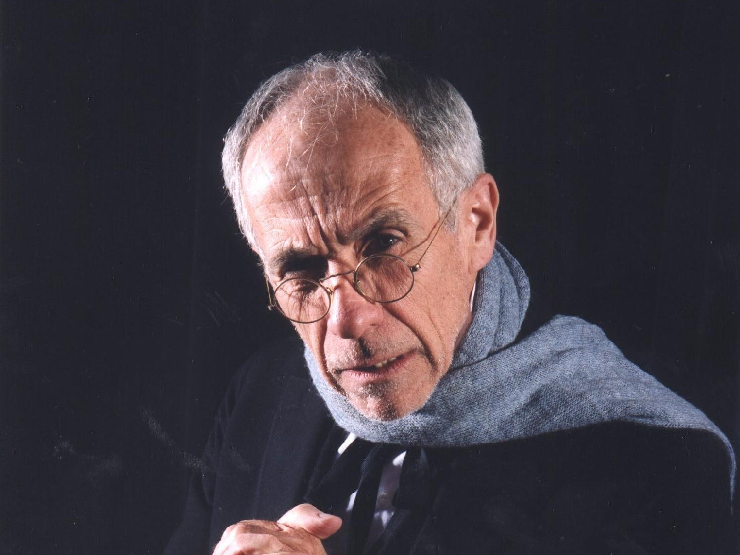 "Bill Gorman as Scrooge in the 1998  Cider Mill Playhouse production of ""A Christmas Carol.."""