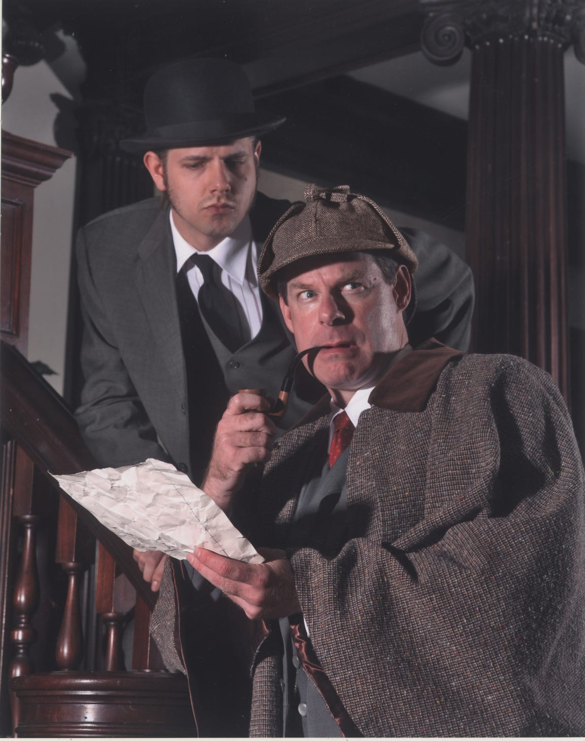 "Cider Mill Playhouse's Sherlock Holmes play ""Crucifer of Blood"" in 2007."