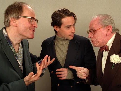 "From left, Craig MacDonald, Richard G. Smith, and David Mitnowski in the Cider Mill Playhouse production of ""The Sunshine Boys"" in 1997."