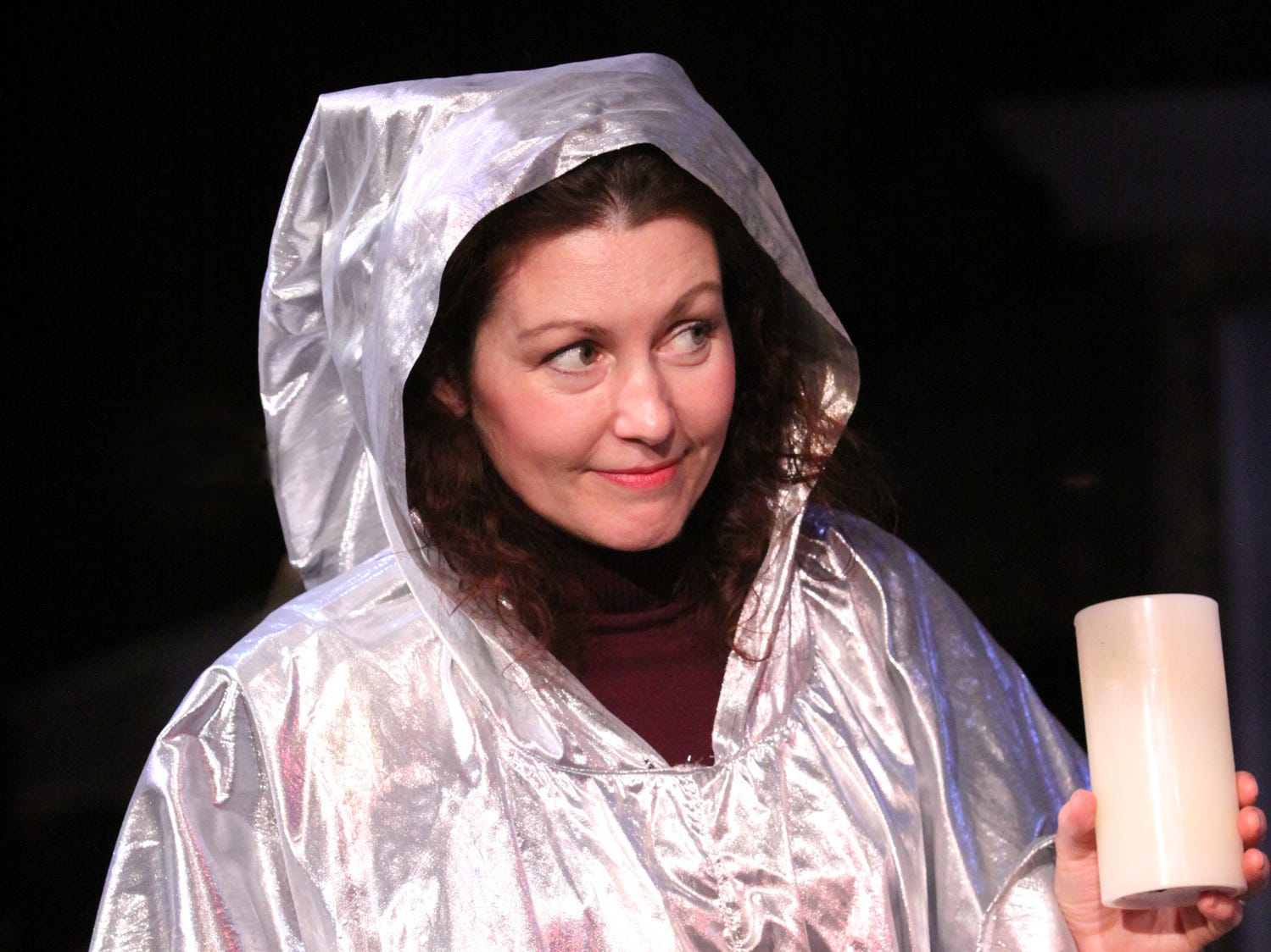 "Suzanne Santer Brigham plays the Ghost Of Christmas Past in the Cider Mill Playhouse production of ""A Christmas Carol."""