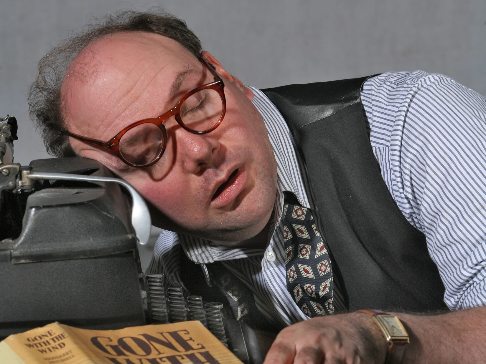 "Mark Bader in the ""Moonlight and Magnolias"" at the Cider Mill Playhouse in 2009."