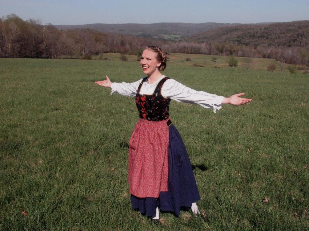 "Marisa Rozek as Maria in ""The Sound of  Music"" at the Cider Mill Playhouse in 2005."