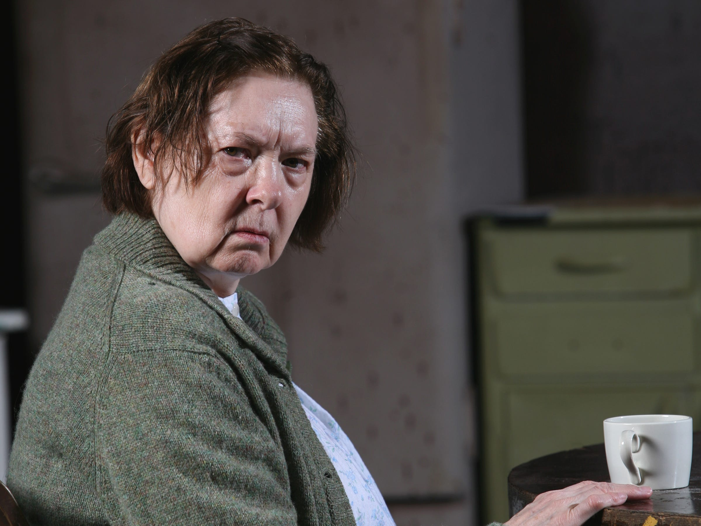 "Evangeline Johns stars as Mag Folan in the Cider Mill Playhouse Production of Martin McDonagh's ""The Beauty Queen of Leenane"" in 2007."