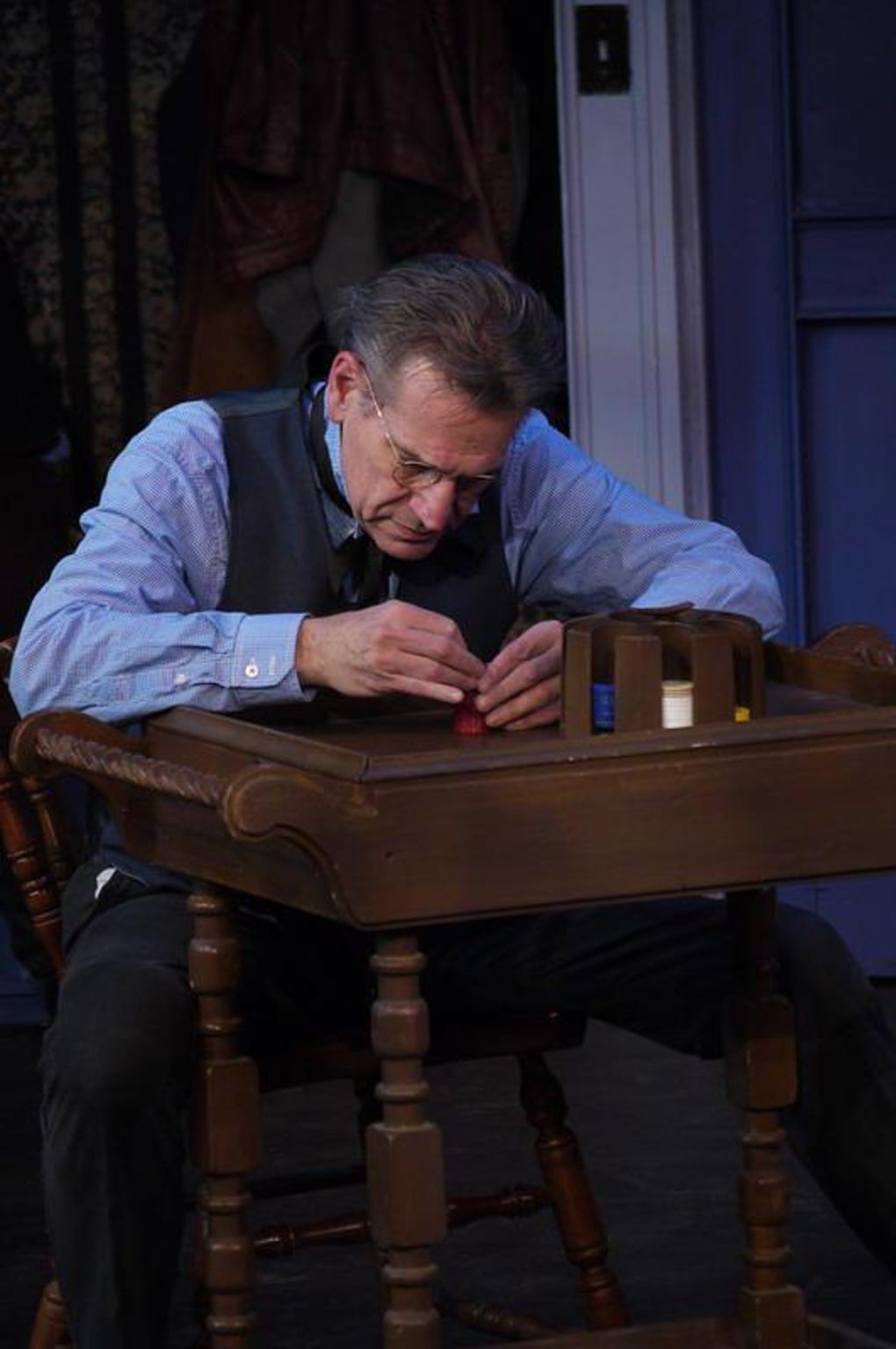 "Tom Kremer as Scrooge in a Cider Mill Playhouse production of ""A Christmas Carol."""