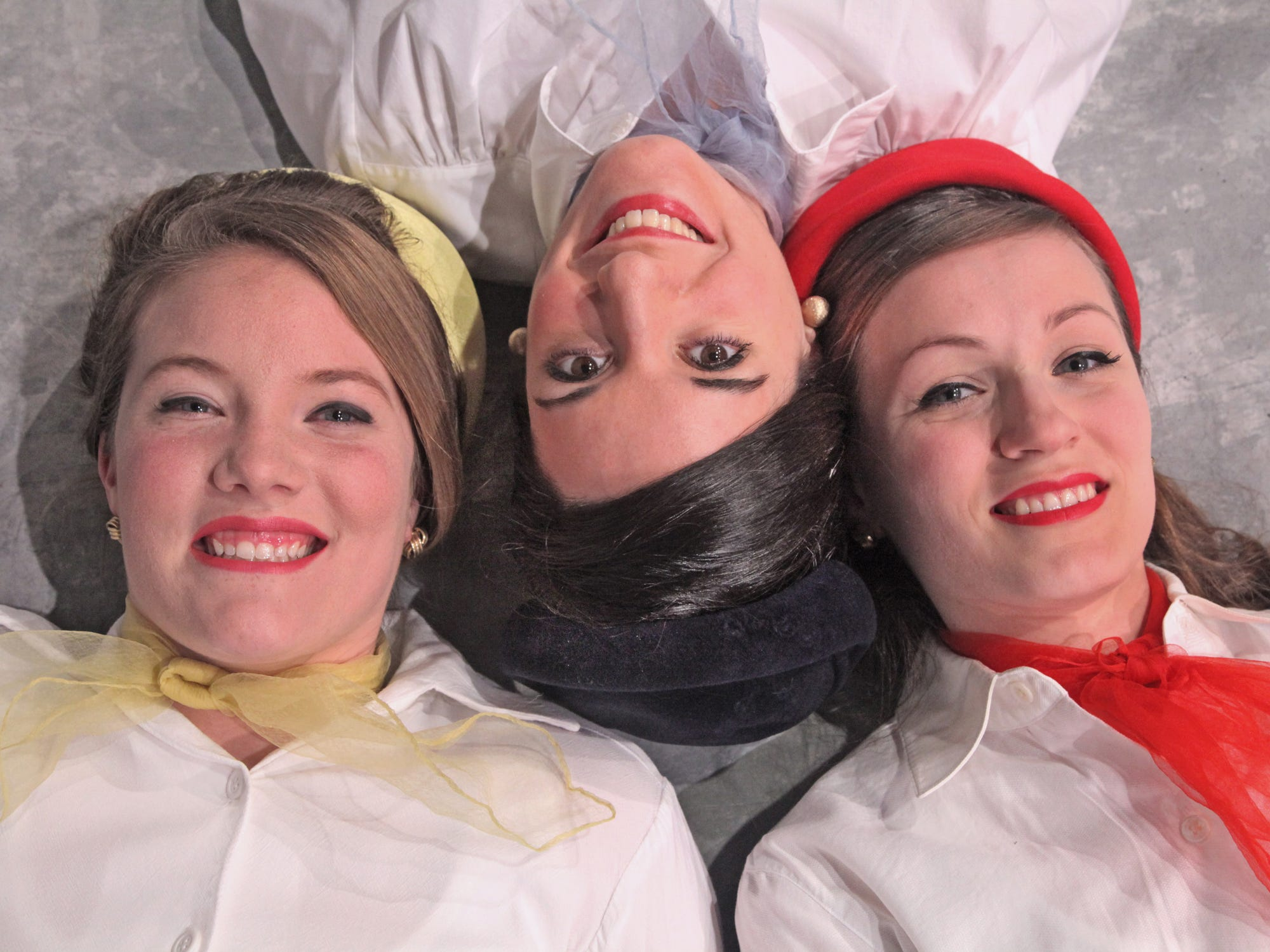 "Krystal Fess, left, Joanna Patchett, center, and Rebekah Baker in the Cider Mill Playhouse production of ""Boeing-Boeing"" in 2012."