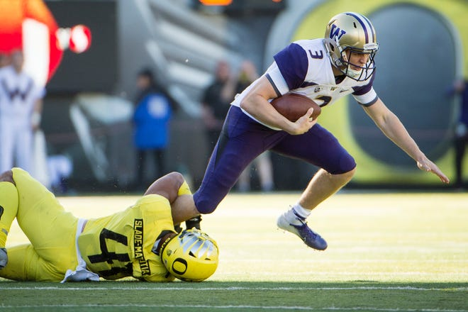 Quarterback Jake Browning and the Huskies need to quickly move on from their 30-27, overtime loss to Oregon last week.