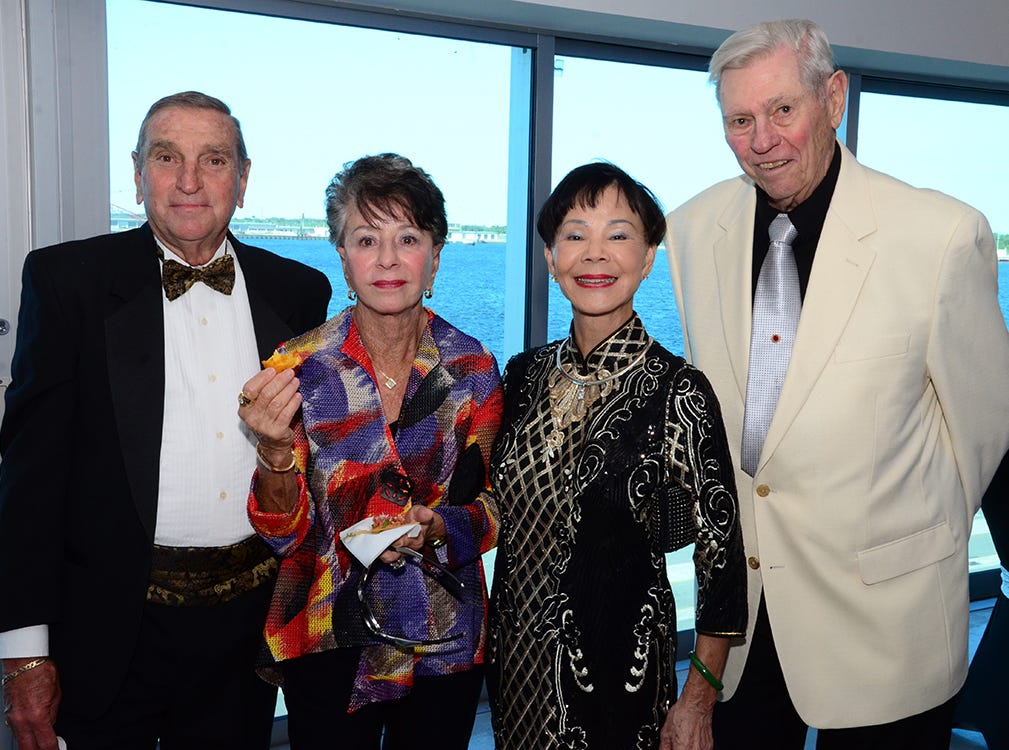 Dick and Marie Englehardt along with Turmy and Oscar Sieveking enjoy the start of the Fly Me to The Moon gala to benefit the Jess Parrish Foundation with proceeds going to mental and behavioral health in Brevard County.