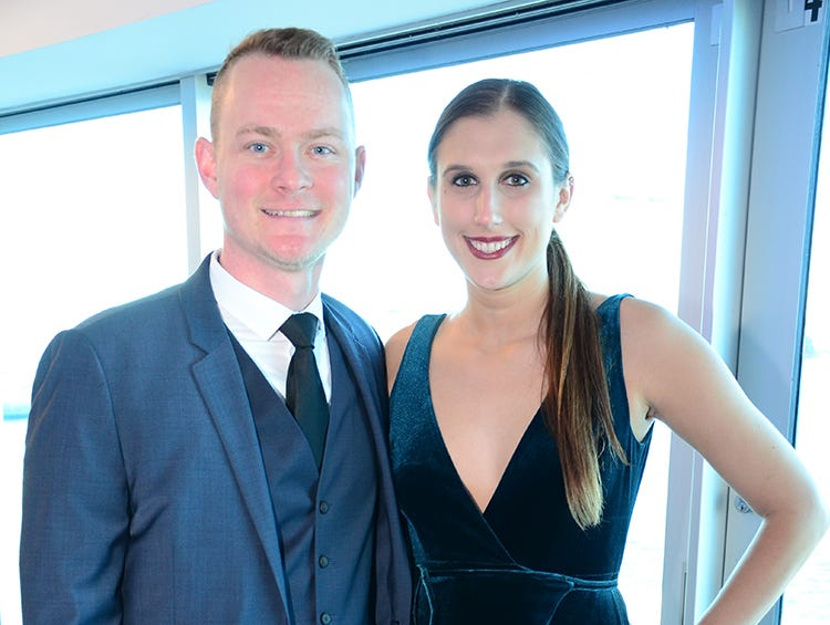 Josh Litton and Sarah Napolitano arrive for the Fly Me to The Moon gala to benefit the Jess Parrish Foundation held at Port Canaveral Saturday evening.