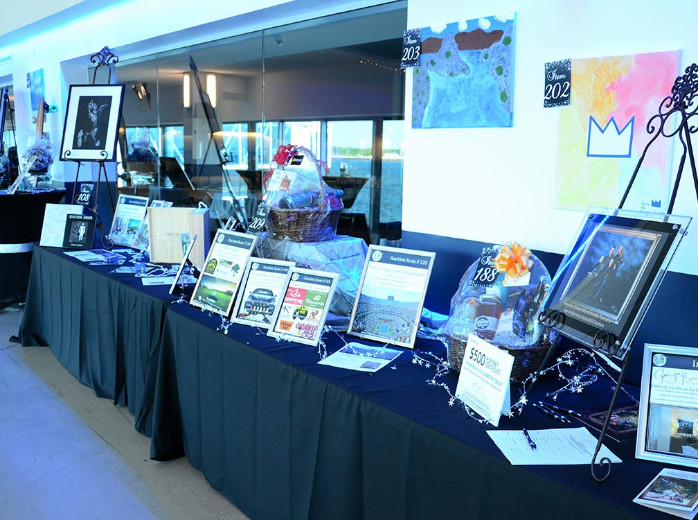 These gorgeous items up for silent auction Saturday evening during the Fly Me to The Moon benefit gala for the Jess Parrish Foundation held at Port Canaveral. Proceeds from the event benefit mental and behavioral health in Brevard.