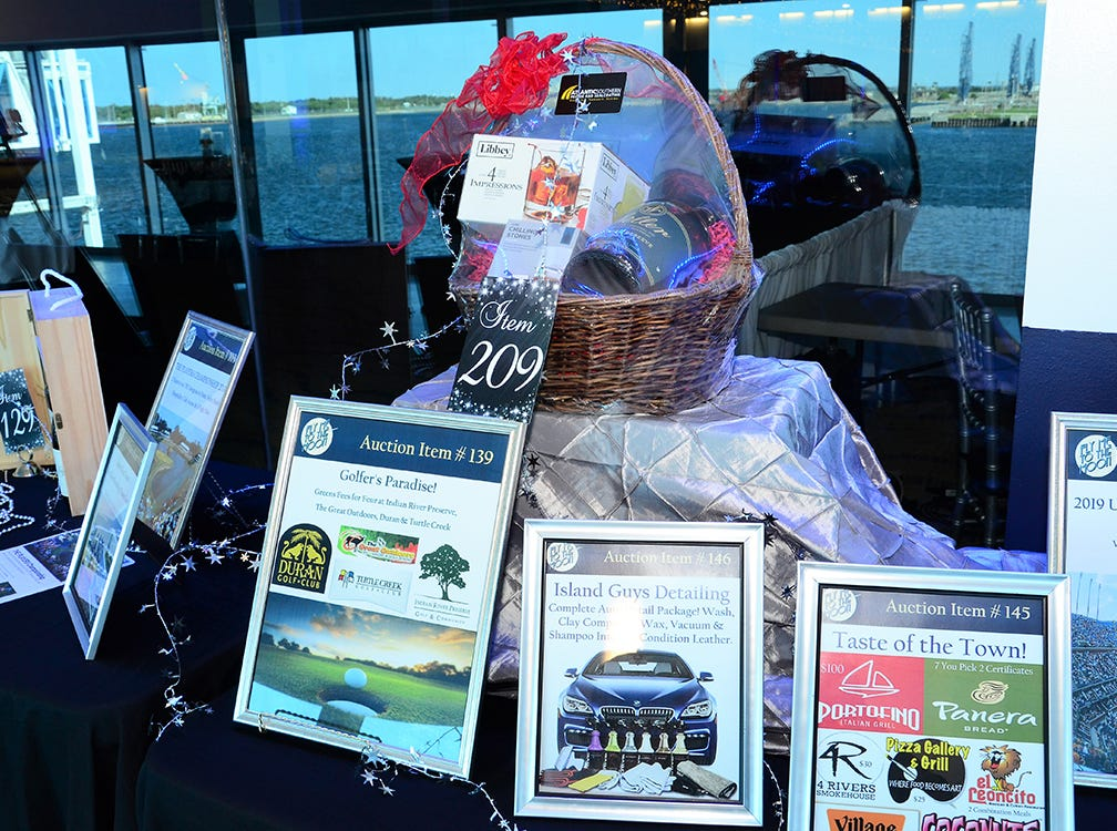 More items up for silent auction Saturday night during the Fly Me to The Moon gala held at Port Canaveral Saturday evening.