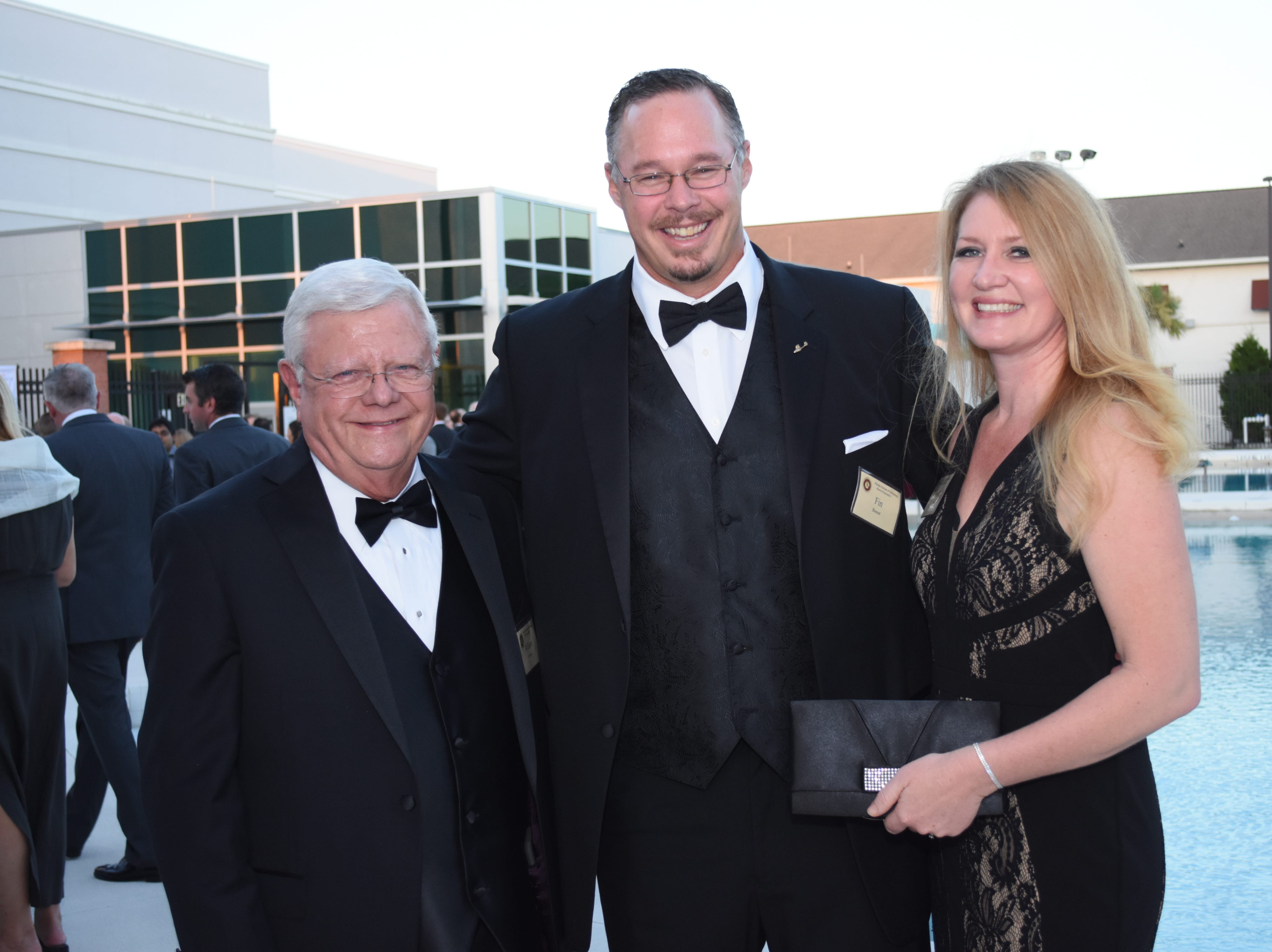 William Graves with Jennifer and Fin Bonset at Florida Tech's 60th Anniversary Homecoming Gala Oct. 13, 2018, at the Clemente Center.