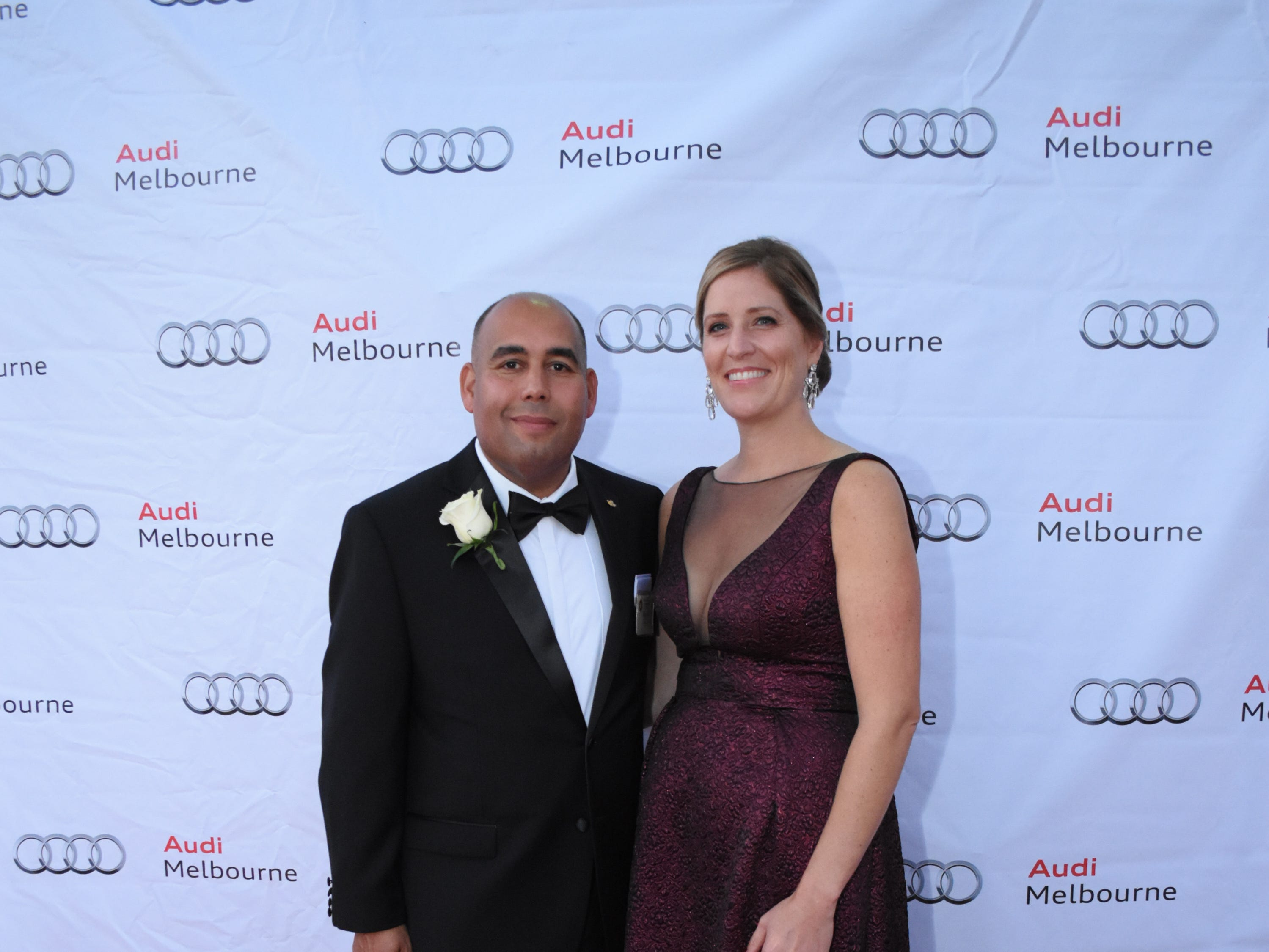 Skurla Award recipient Miguel Estrenera and his wife, Kim, at Florida Tech's 60th Anniversary Homecoming Gala Oct. 13, 2018, at the Clemente Center.