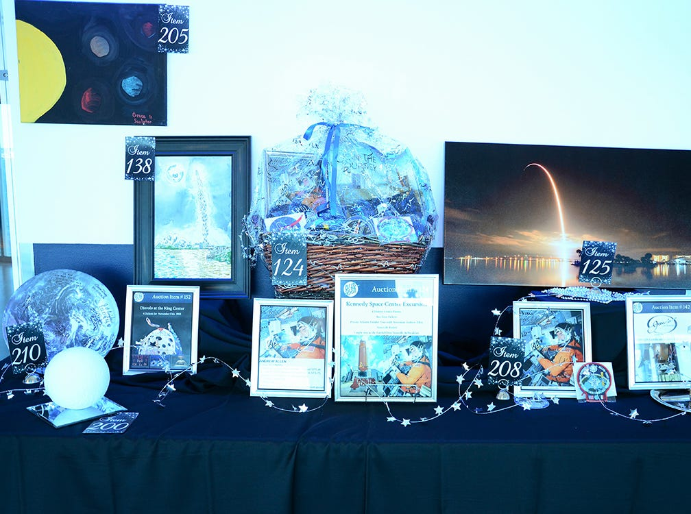 These gorgeous items up for silent auction Saturday evening during the Fly Me to The Moon benefit gala for the Jess Parrish Foundation held at Port Canaveral. Proceeds from the event benefit mental and behavioral health in Breavard.
