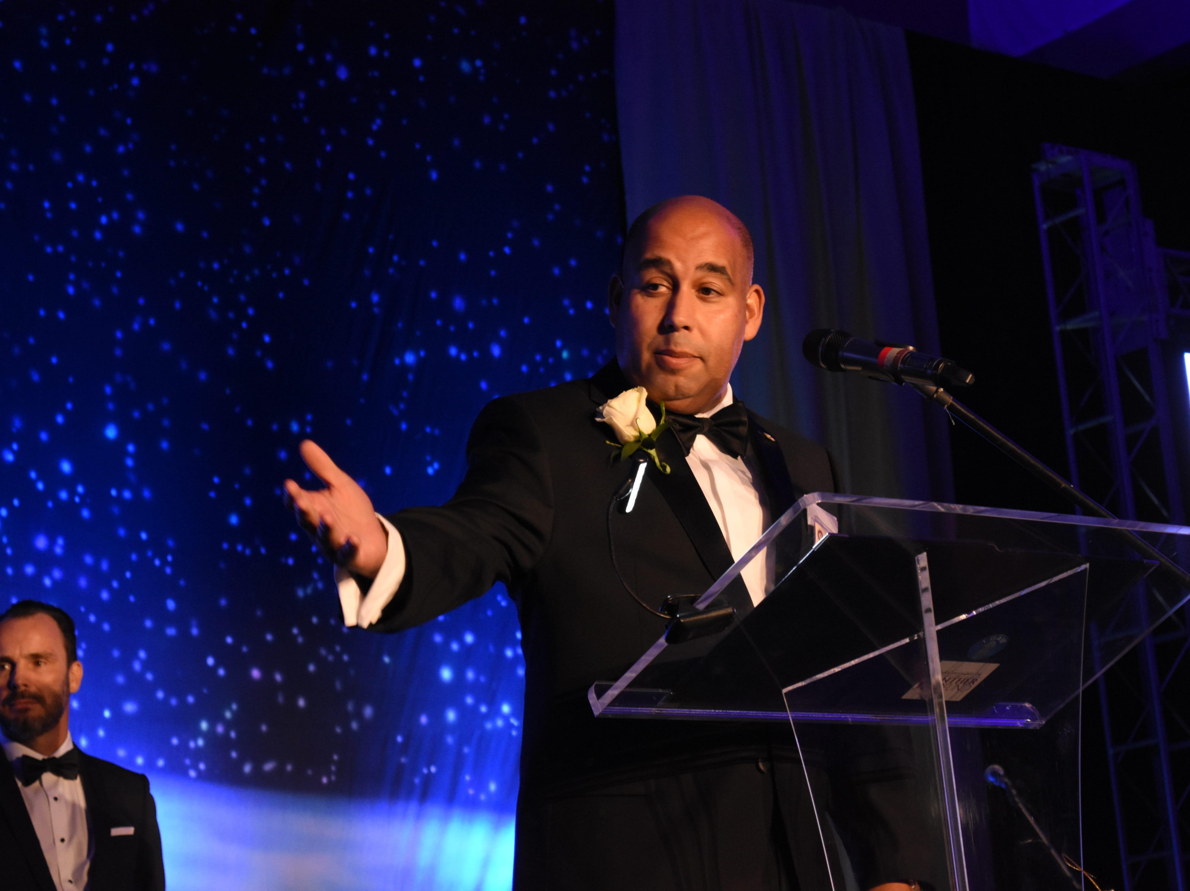 Skurla Award recipient Miguel Estrenera at Florida Tech's 60th Anniversary Homecoming Gala Oct. 13, 2018, at the Clemente Center.