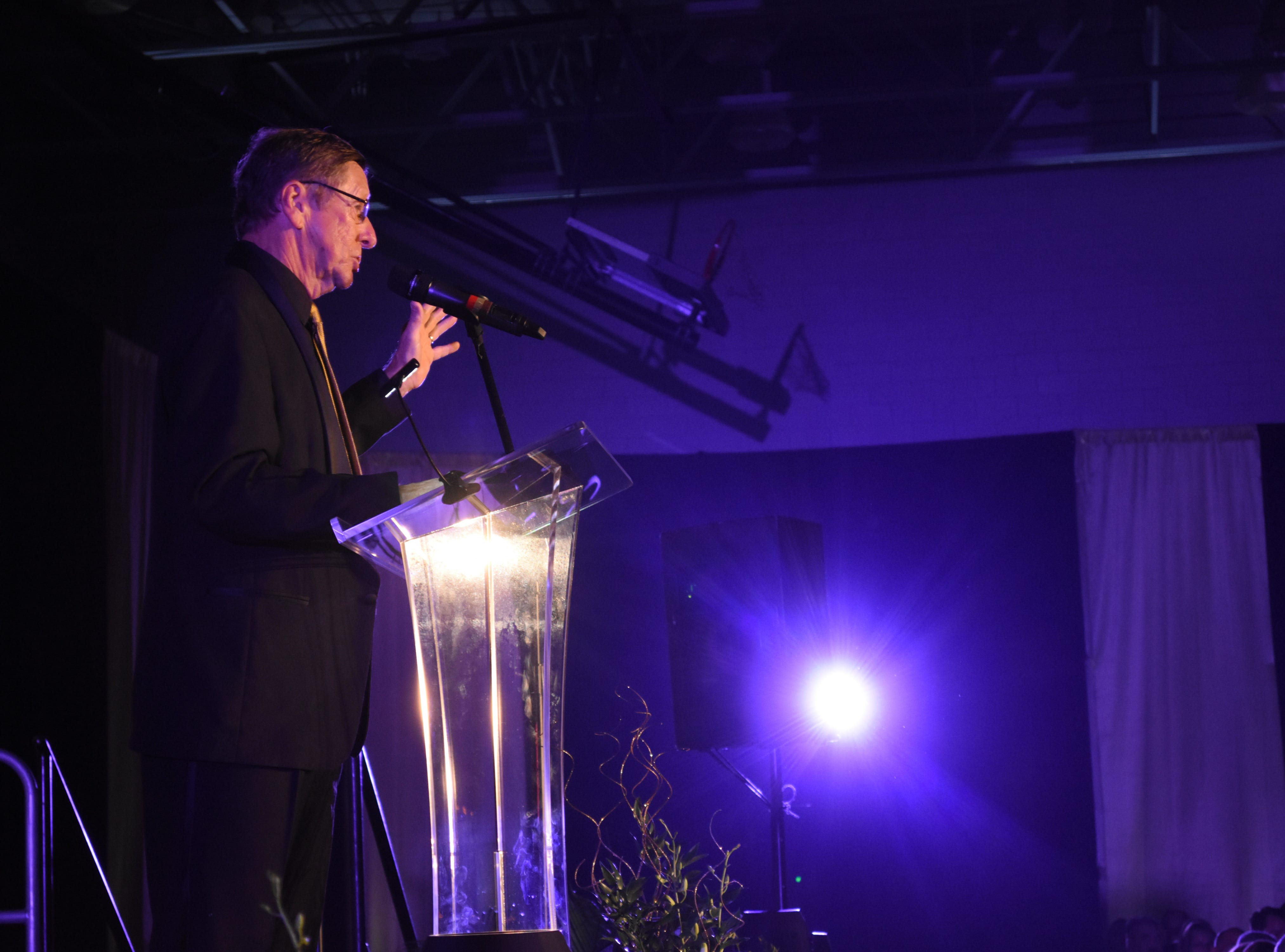 Florida Tech president Dr. T. Dwayne McCay at Florida Tech's 60th Anniversary Homecoming Gala Oct. 13, 2018, at the Clemente Center.