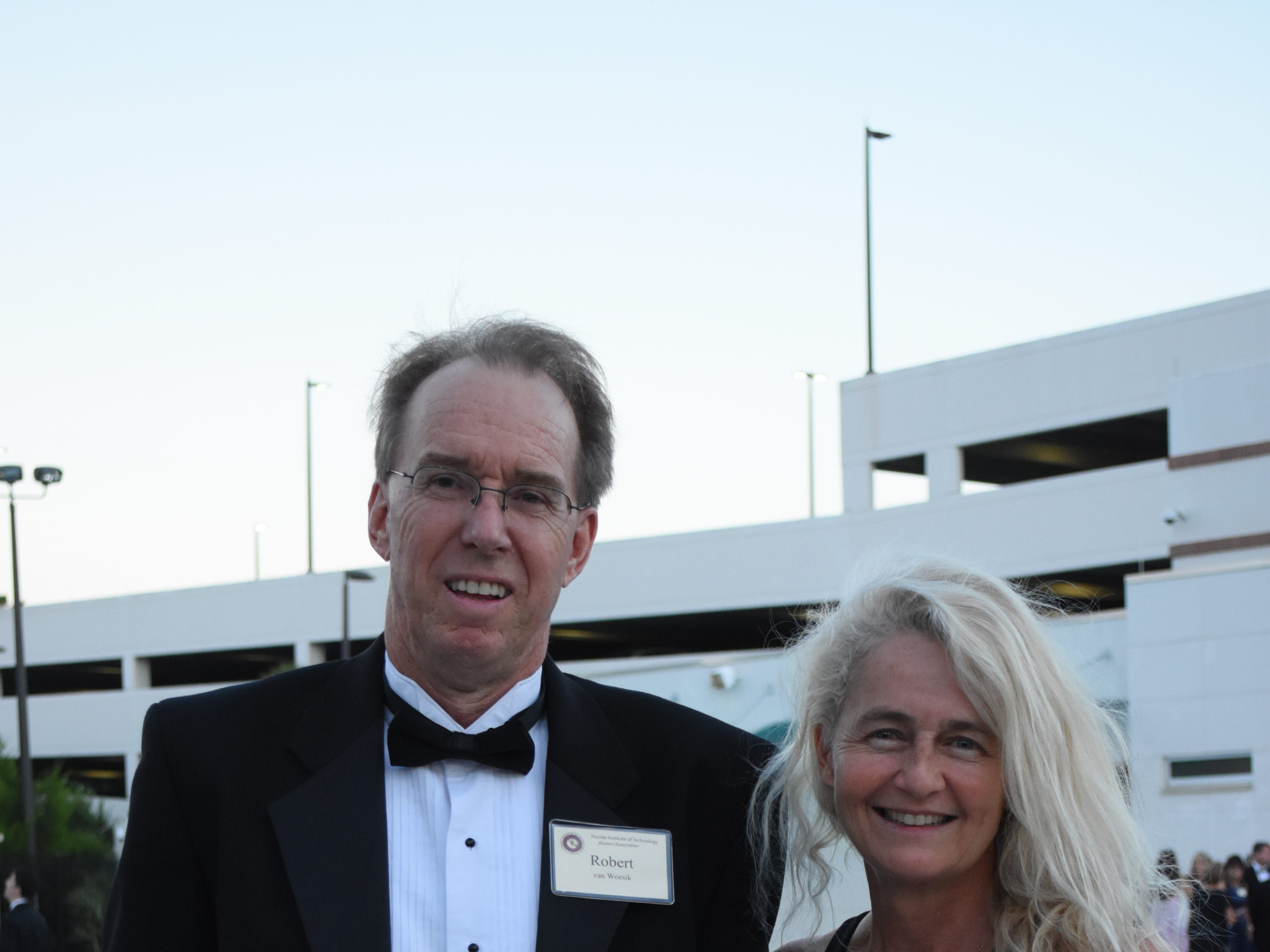 Robert and Sandy van Woesik pose for a photo at Florida Tech's 60th Anniversary Homecoming Gala Oct. 13, 2018, at the Clemente Center.