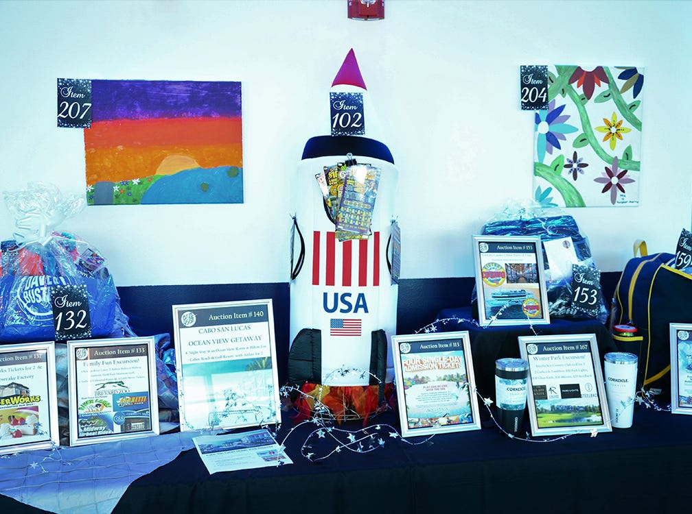 A lucky person could have bid on these fine items Saturday evening during the Fly Me to The Moon gala at Port Canaveral.