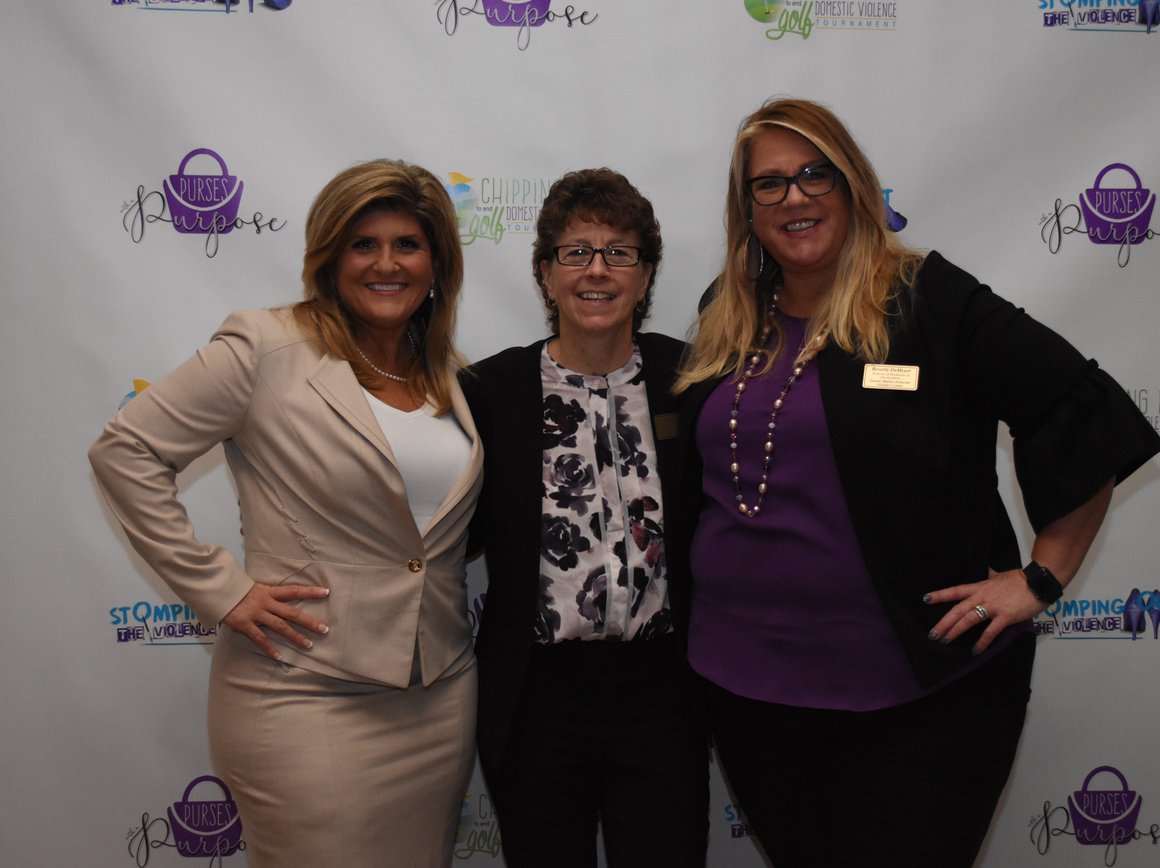 Former mayor of Cape Coral Marni Sawicki, Melody Keeth CEO of Serene Harbor, and Director of Marketing with Serene Harbor Beverly DeMeyer pose for a photo.