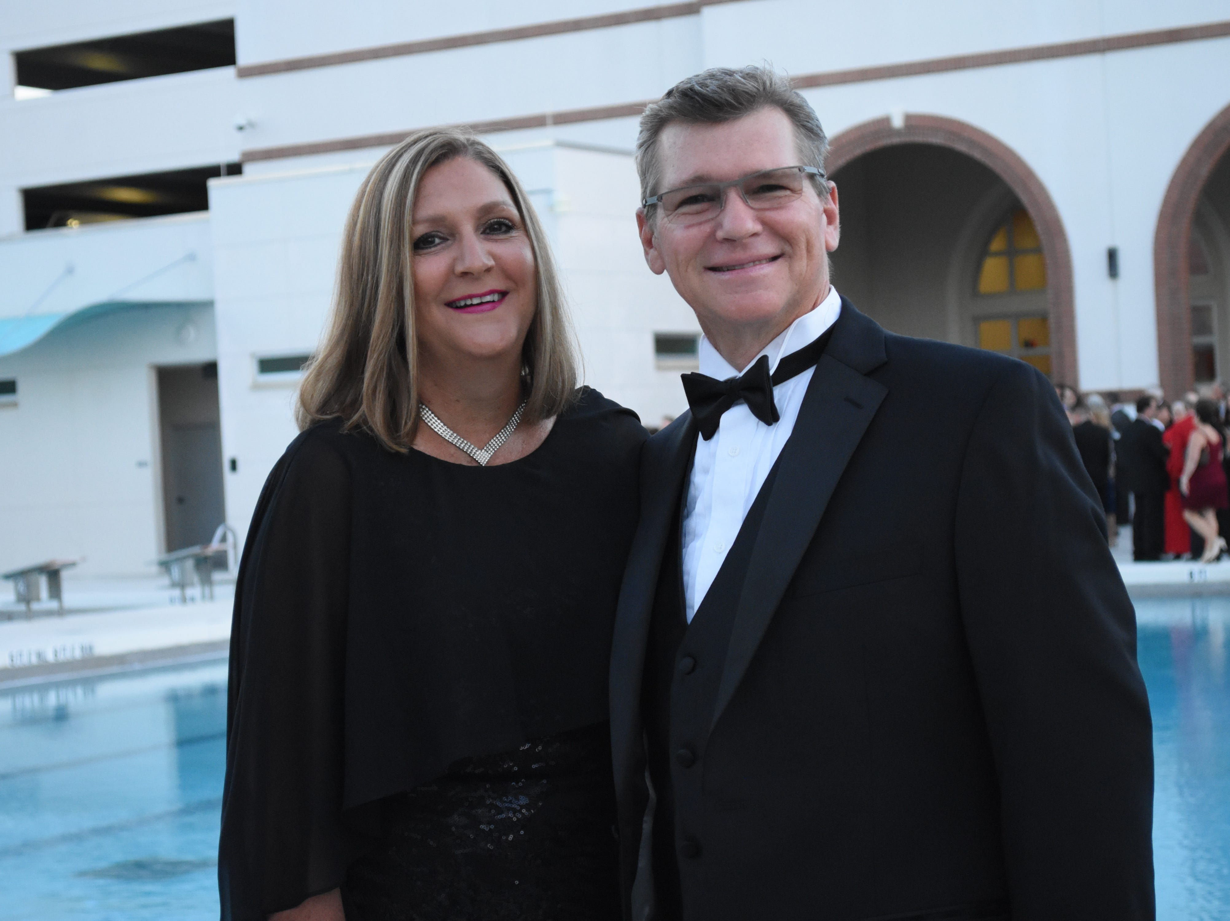 Jackie and Mick Barker pose for a photo at Florida Tech's 60th Anniversary Homecoming Gala Oct. 13, 2018, at the Clemente Center.