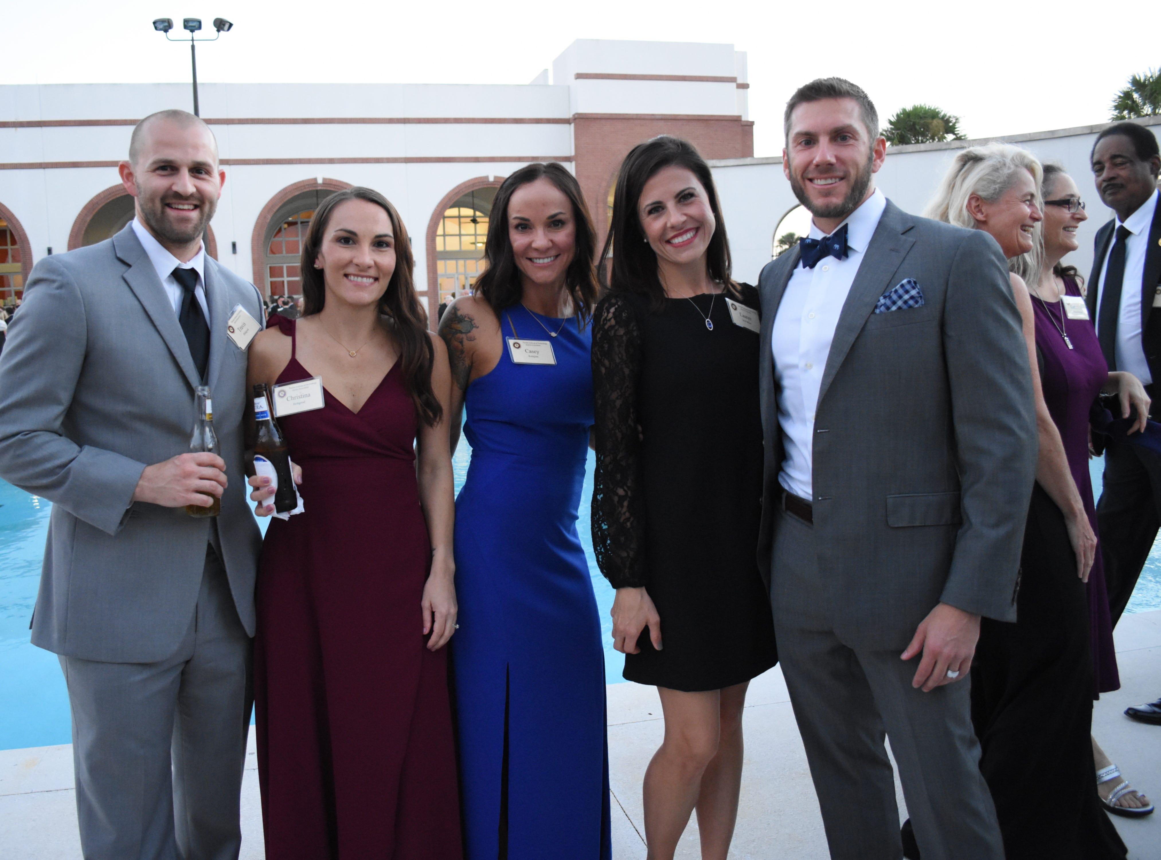 Travis and Cristina Hobgood, Casey Kalajian, Lauren and Hugh McFadden at Florida Tech's 60th Anniversary Homecoming Gala Oct. 13, 2018, at the Clemente Center.