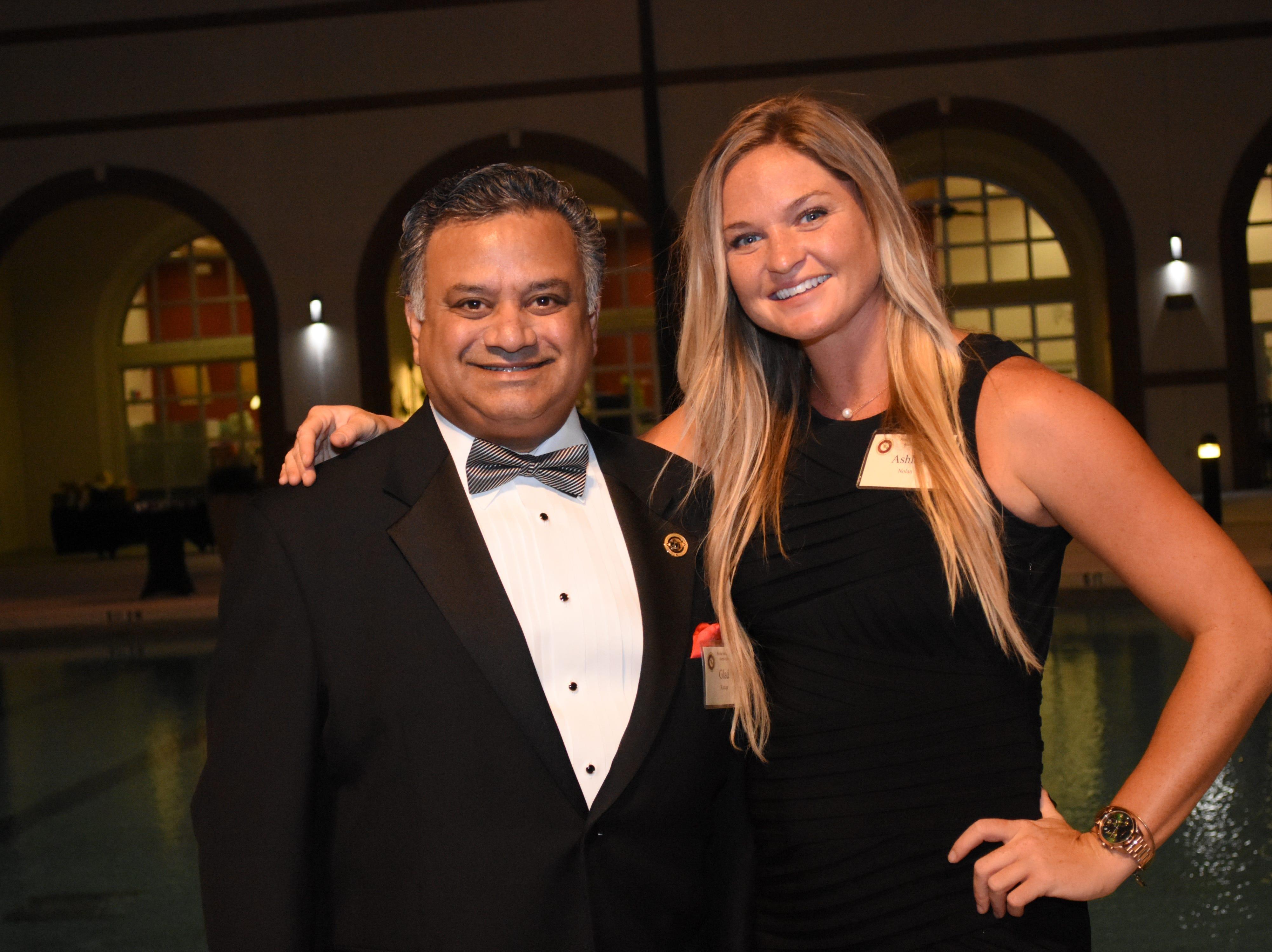 Glad Kurian and Ashley Nolan at Florida Tech's 60th Anniversary Homecoming Gala Oct. 13, 2018, at the Clemente Center.