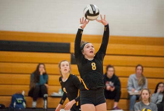 Alyssa Sallee helped get the Colonel Crawford offense going with her setting.