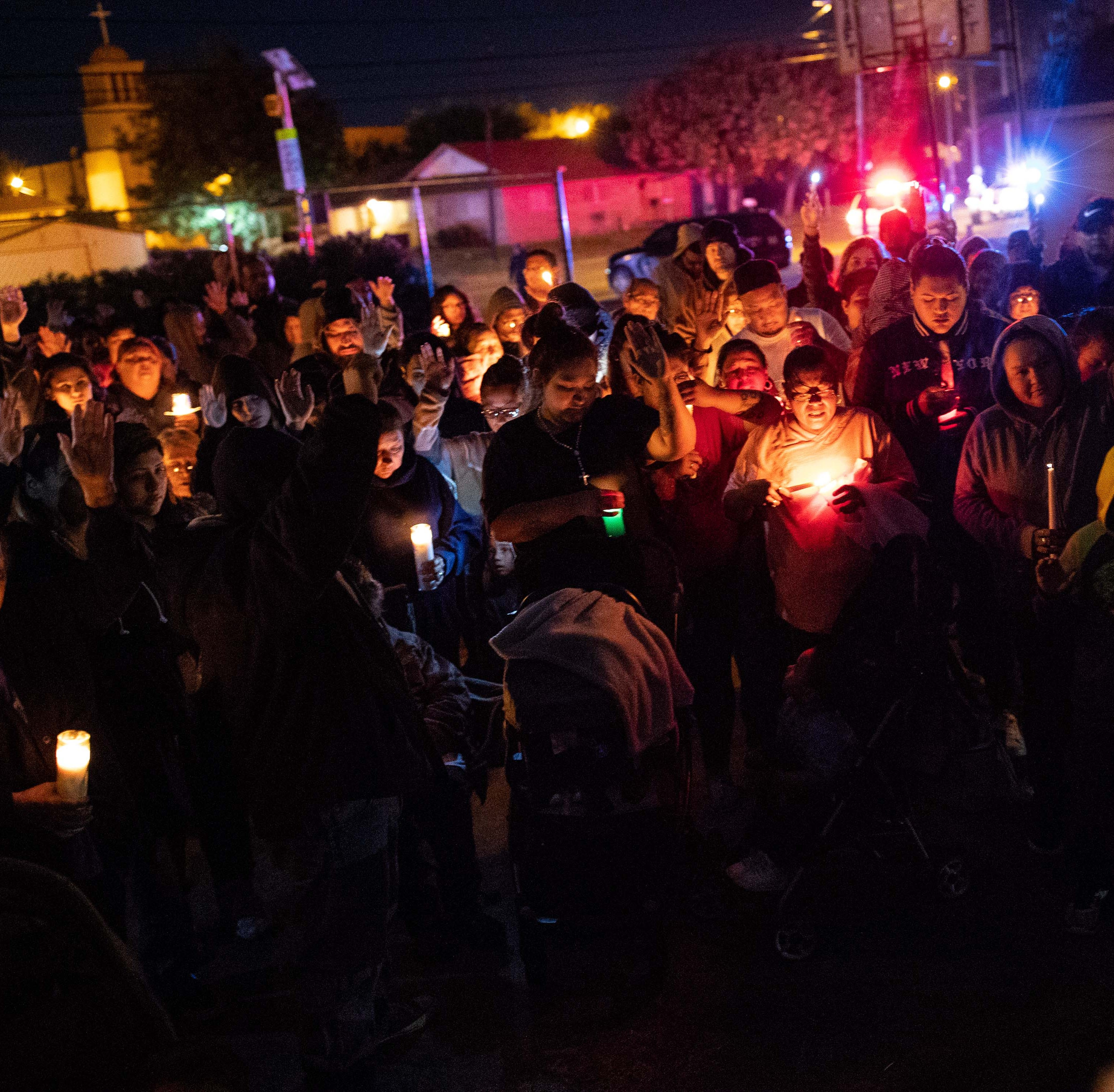 Mayor, law enforcement gather around friends, family at vigil for 4 men killed in Taft