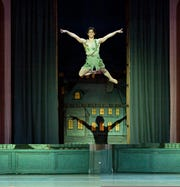 "Principal dancer Cervilio Miguel Amador, seen here in a 2009 performance of Cincinnati Ballet's production of Septime Webre's ""Peter Pan."" Amador will be in the role again when the production returns to Music Hall October 25-28."