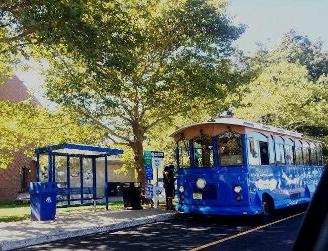 Kean University will provide free trolley service from NJ Transit's Union Station to Liberty Hall Museum for Four Centuries In A Weekend on Saturday, Oct. 20, and Sunday, Oct. 21. Pictured is a Kean University Trolley.