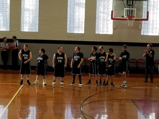 The Hunterdon County Jaguars 2 team before a game earlier this year. Some of the athletes who have registered with Hunterdon County Special Olympics are waiting for a basketball or softball team to form so they can join. The only thing missing is a volunteer to step forward to coach the team.
