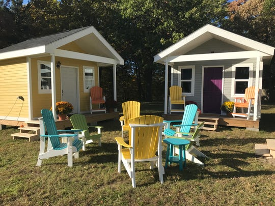 Joppa's tiny home village was on display in Polk City on Oct. 19, 2018. The nonprofit is still looking for a spot to build tiny homes in the Des Moines metro.