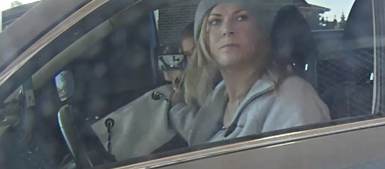 Marie Ashley Swier shown in a surveillance footage.