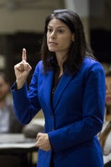 Attorney General-elect Dana Nessel. Photo taken at town hall at Hope United Methodist Church in Southfield, Thursday, October 11, 2018.