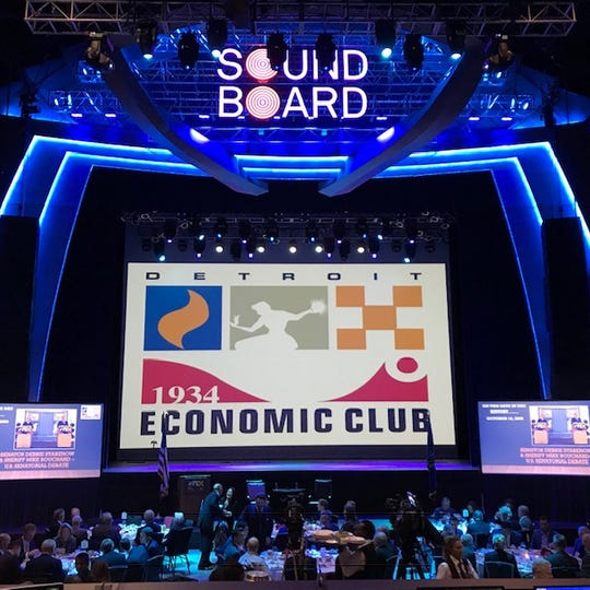 President Trump's top economic adviser, Larry Kudlow, spoke in Detroit about the strong U.S. economy at Motor City Casino on Thursday Oct. 18, 2018.