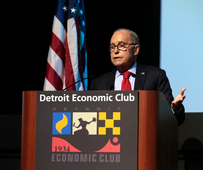 Larry Kudlow, Assistant to the President & Director, National Economic Council at the Detroit Economic Club in Detroit on Thursday, October 18, 2018.