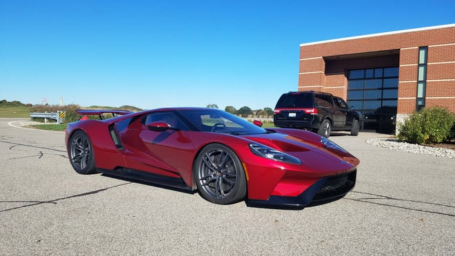 Ford will increase production of its mid-engine, carbon-fiber GT supercar from 1,000 to 1,350. This 2017 GT, shown at the company's proving grounds in Dearborn, boasts 647 horsepower with a top speed of 216 mph.