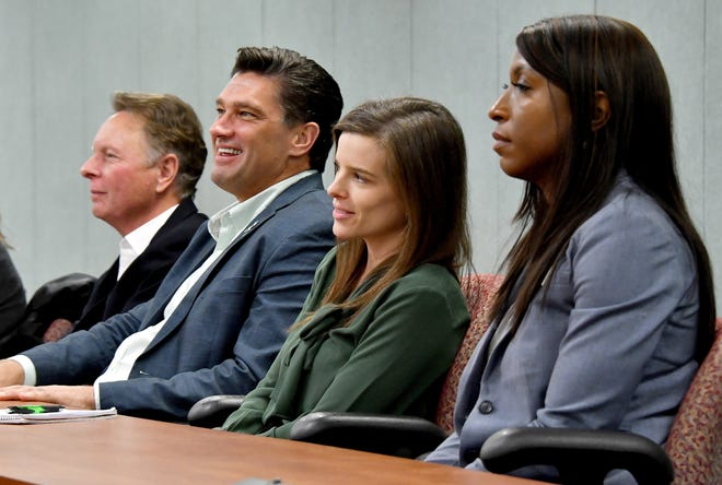 Candidates for the MSU Board of Trustees, from left: Mike Miller, Dave Dutch, Kelly Tebay and Brianna Scott.