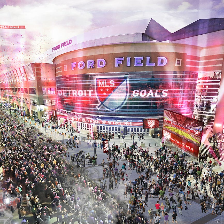 Retractable roof for Ford Field is closed as MLS option
