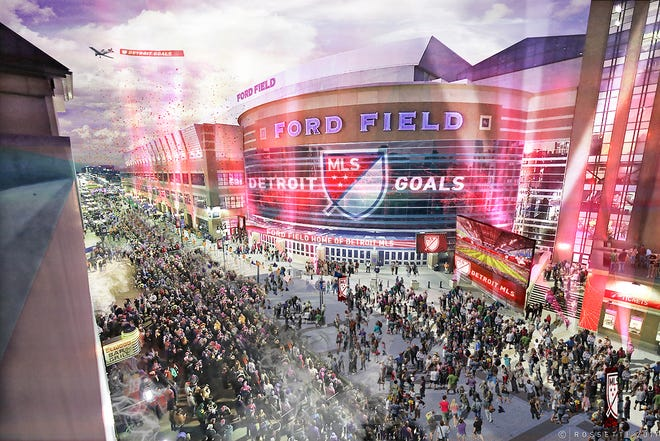 Ford Field will not have a retractable roof as part of Detroit's bid to get an MLS franchise.