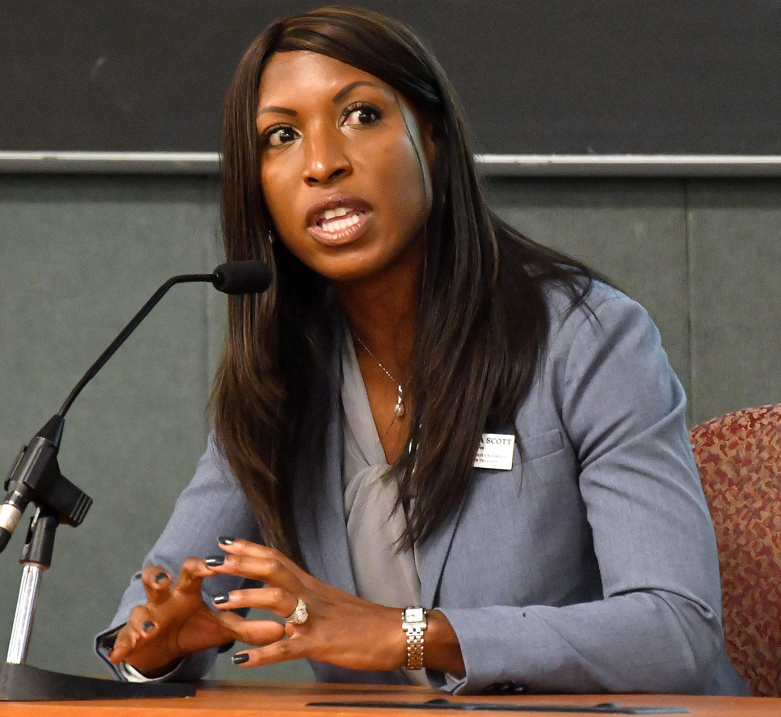 Brianna Scott, of Muskegon,  is one of the candidates for Michigan State University board of trustees.