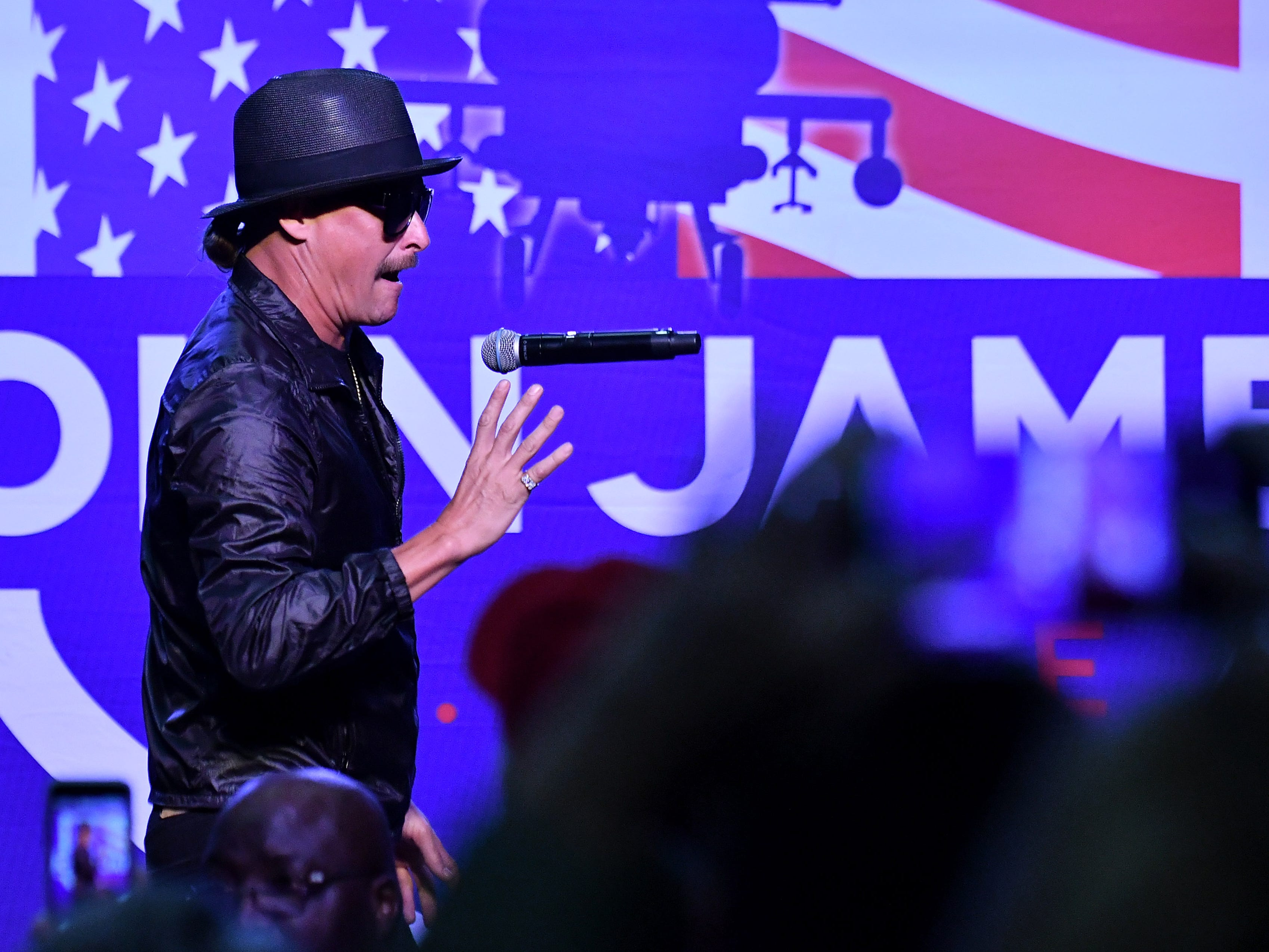 Kid Rock performs during the rally.
