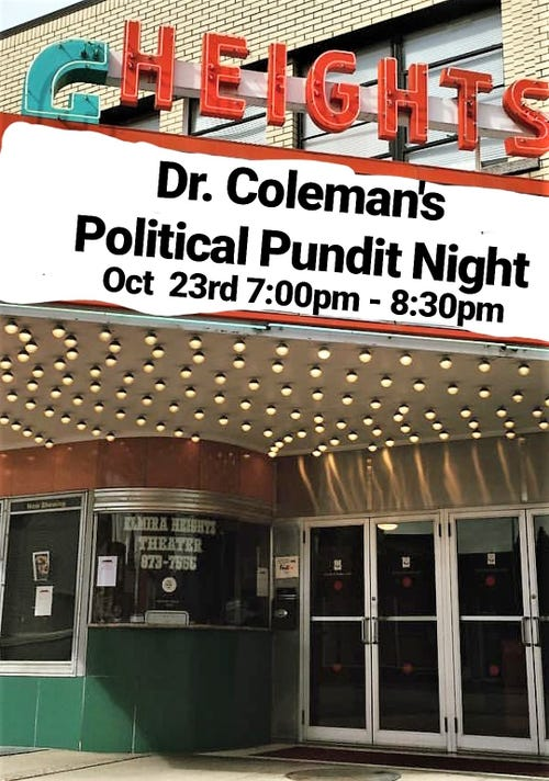 October 23rd Pundit Night Marquee