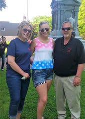 State Sen. Rick Gudex with his wife Kim and daughter Alexana.