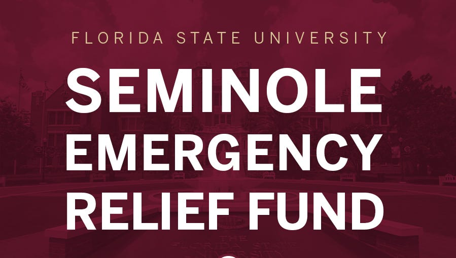 The Seminole Emergency Relief Fund is dedicating donations towards students, faculty and staff.