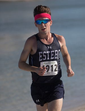 Hugh Brittenham wins the Lee County Athletic Conference Championship at Lovers Key State Park on Thursday 10/18/2018. Fort Myers High took the boys division as a team.
