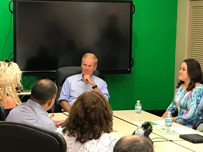 U.S. Sen. Bill Nelson meets with local business owners to discuss water quality and Florida's algae crisis.